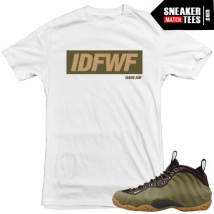 Olive-foams-matching-t-shirt