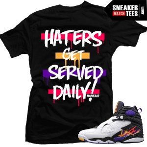 3 peat 8s Jordan Retros match t shirts sneaker tees shirts