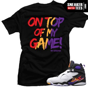 Jordan 8 3 Peat Sneaker Tees to match 3 Peat 8s