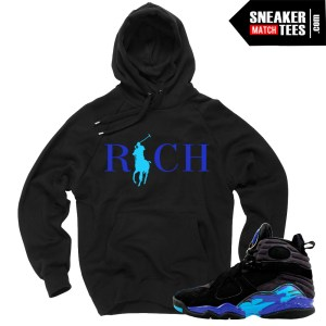 Jordan Retro 8 Aqua matching sweater Jordan Hoodie
