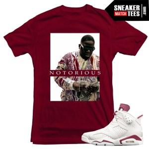 Maroon-6s-Jordans-sneaker-tees-Streetwear-matching-Jordan-Retros