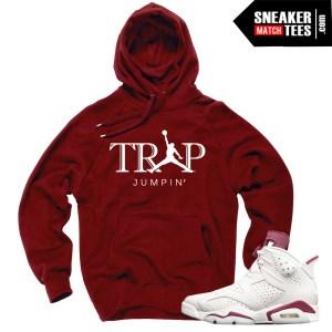 Sneaker Tees Match Jordan 6s Maroon