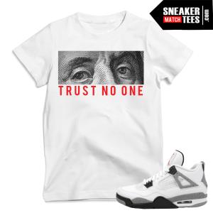 Sneaker Tees match Cement 4 Jordans