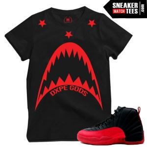 Flu Game 12s matching t shirts sneaker tees