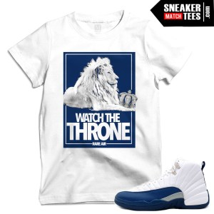 French Blue 12 Release Date matching t shirts
