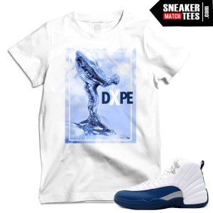 French Blue 12 clothing Jordan T shirts match