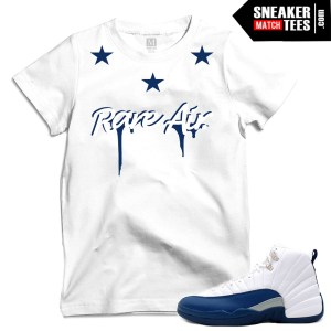 French Blue 12 t shirts match Jordans