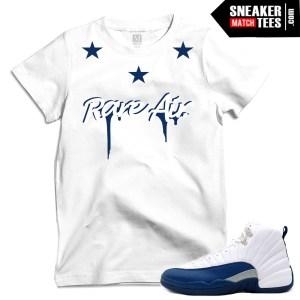 French Blue 12 t shirts match Jordans