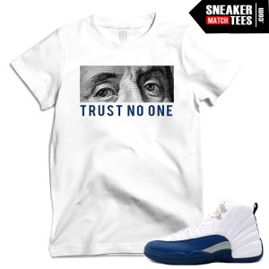 French Blue t shirts to match Jordan 12s