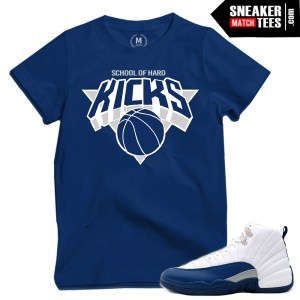 French Blue 12 t shirts match sneakers