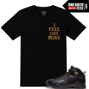 NYC 10s matching sneaker tees shirts
