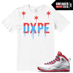 Match t shirt Chicago Flag 10