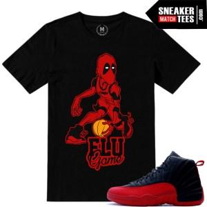 Shirt match Flu Game 12 Jordan Retros
