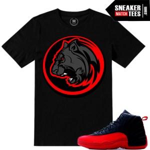 Sneaker tees match Jordan 12s flu game