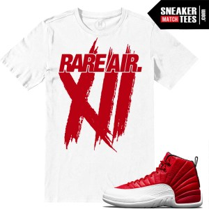 Air Jordan 12 Gym Red Match Sneaker tees