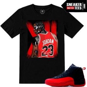 Jordan Retro Sneaker tees match Flu Game 12