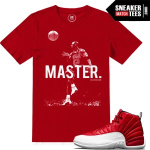 Match Retro Jordan 12 Gym Red Shirt