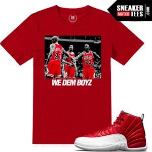 Shirts match Jordan Retro Gym Red 12s