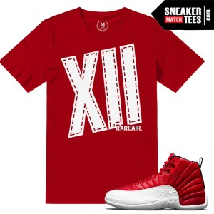 Sneaker tees Match Gym Red 12s