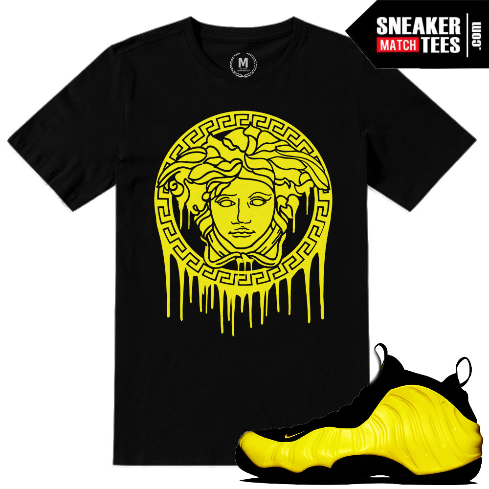 Sneaker tees match Optic Yellow wutang nike foams