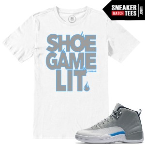 T shirts match Wolf Grey 12 Retro Jordan