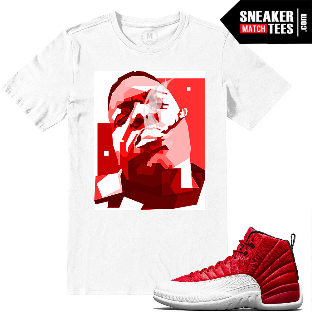 Gym Red 12 sneaker tees. Gym Red 12s. Match Gym Red 12 Jordan Retros |  Notorious BIG | White T shirt