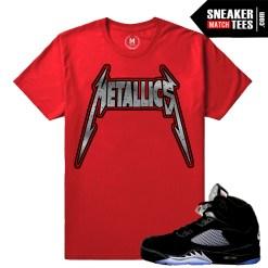 Jordan 5 Black metallic Matching t shirt