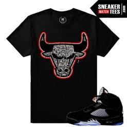 Jordan Retro 5 Black Metallic 5 Shirts