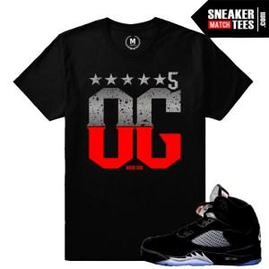 OG Black Metallic 5s t shirts