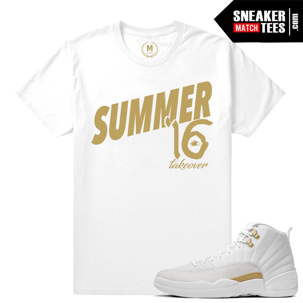8f289bf998a05a ... vachetta tan sneaker tees match retro 12 tan shoes. Shirt  OVO 12s  White T shirt match Jordan 12 OVO ...