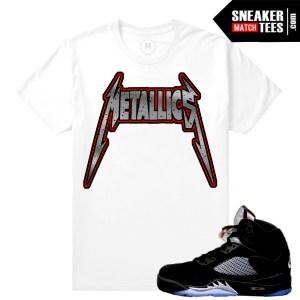 Sneaker shirts Match Jordan 5 Black Metallic
