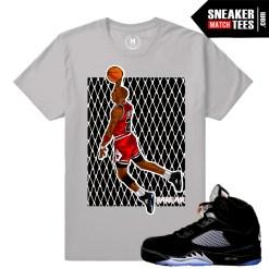 T shirts match Jordan 5 Black Metallic OG