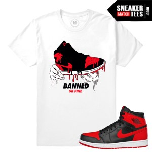 Banned 1s Jordan t shirts match