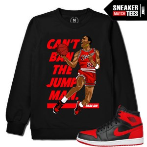 Black Crewneck Match Jordan 1 Banned