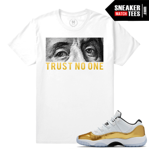 Gold 11 Lows Matching T shirt