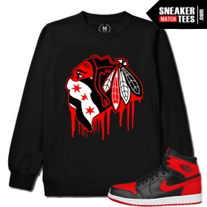 Jordan 1 Banned Crewneck Sweater Match Sneakers