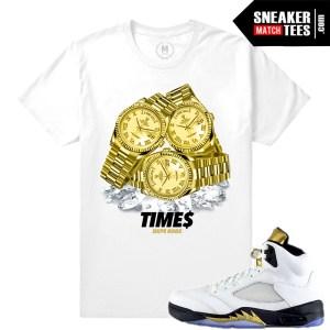 Jordan 5 Olympic Shirt match
