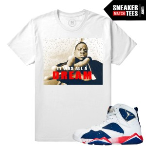 Jordan 7 Retro Tinker Alternate matching tee shirt