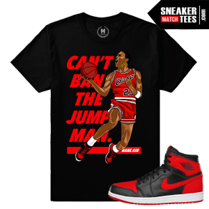 Match Jordan 1 Banned Sneaker tees