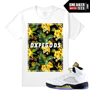 Match Jordan 5 Olympic t shirts