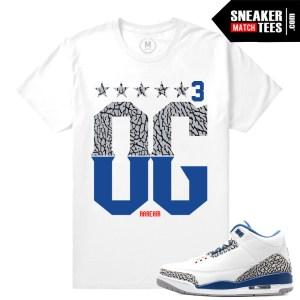 Match True Blue 3 Sneaker tees