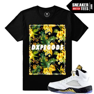 Olympic 5s match sneaker tees