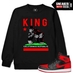 Sneaker Match Tees Crewneck Banned 1s