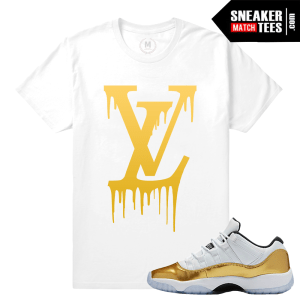 Sneaker Shirts match Jordan 11 low Gold