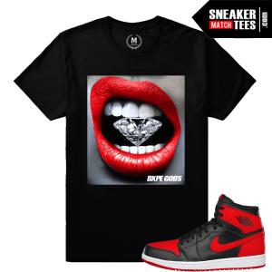 Sneaker t shirts matching Bred 1 Jordans
