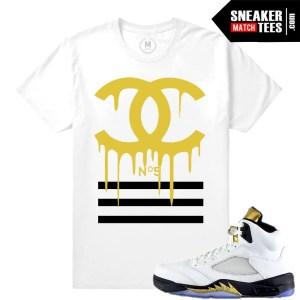Sneaker tee shirts match Olympic 5 Retro Jordans