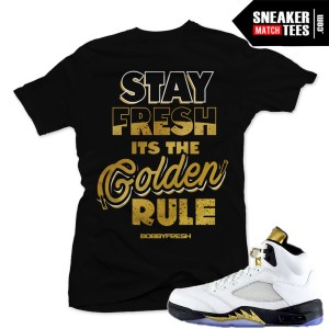 Sneaker tees Jordan Retro 5 Olympic match