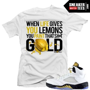 T shirt matching Jordan 5 Olympic