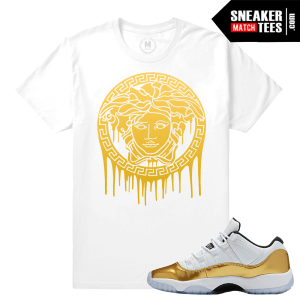 T shirts Jordan 11 Low Gold Match