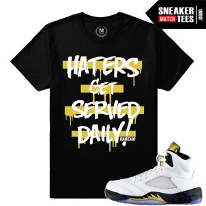 T shirts Jordan 5 Olympic match